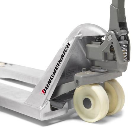 Ručný paletový vozík Jungheinrich AM G20 Galvinox, špeciálna nosná šírka vidlíc 680 mm, krátke vidlice