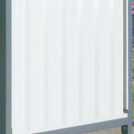 Rückwand, PVC-Wellblech, für Flachdach-Überdachung einseit