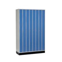Ruimtebesparende garderobekast C+P, draaivergrendeling, 8 compartimenten, hxbxd 1.950 x 1.220 x 500 mm