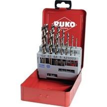 RUKO Maschinengewindebohrersatz, DIN 371/376 C, M3-M12, 14-tlg., HSS-Co5, Metallkassette