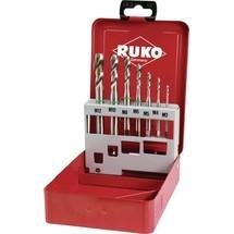 RUKO Maschinengewindebohrersatz, DIN 371/376 C, M3-M12, 7tlg., HSS-Co5, Metallkassette