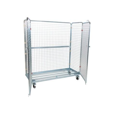 Rullande metallcontainer, 4-sidig