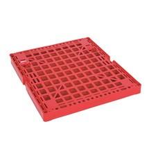 Rullcontainer, 4-sidig, delad framvägg, plast-rullplatta, HxBxD 1.850 x 724 x 815 mm