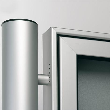 Rundrohr Ständer 80mm für PROFI-Schaukasten, Aufdübeln