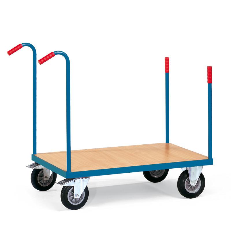Rungenwagen fetra® mit Holzwerkstoffplatte. Tragkraft bis 500 kg