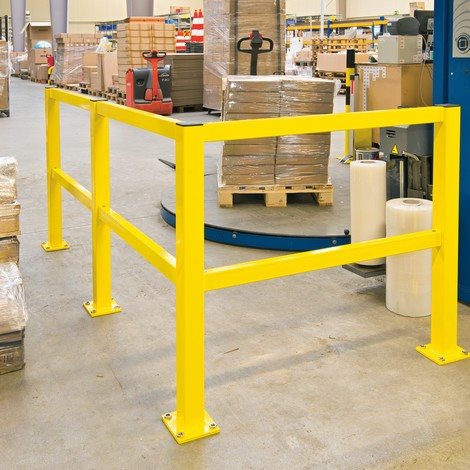 S-Line impact protection railing, post, indoor use