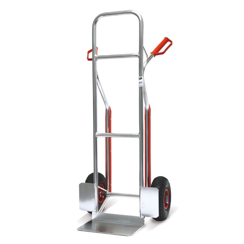 Sackkarre BASIC aus Aluminium. Gleitkufen, Tragkraft 150kg, Schaufel 31x21cm
