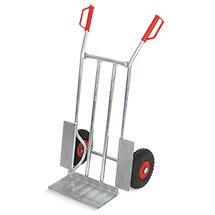 Sackkarre BASIC. Aus Aluminium, Tragkraft 250 kg, pannensichere Bereifung