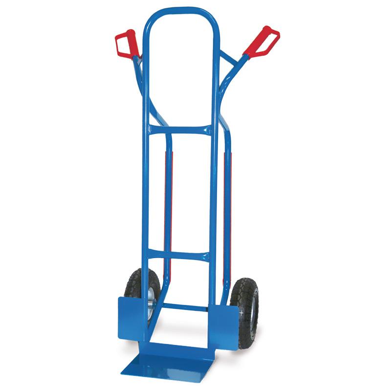 Sackkarre BASIC mit Gleitkufen. Tragkraft 250kg, Schaufel 27x20cm