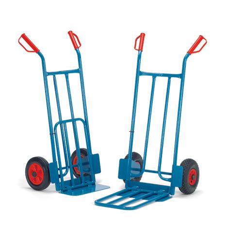 Sackkarre fetra® mit fester und klappbarer Schaufel. Tragkraft 250 kg
