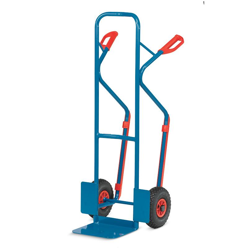 Sackkarre fetra® mit Gleitkufen. Tragkraft 300kg, Schaufel 32x25cm