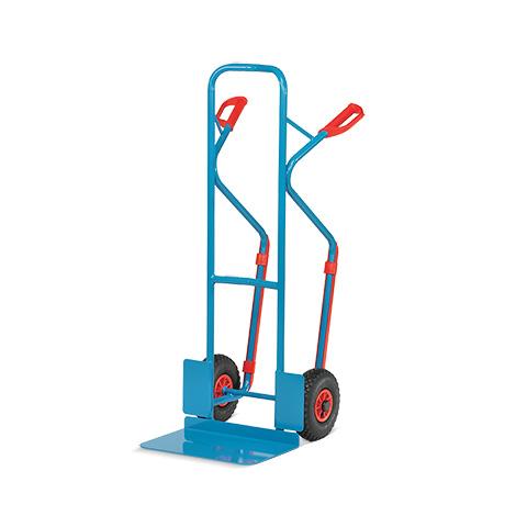 Sackkarre fetra® mit Gleitkufen. Tragkraft 300kg, Schaufelgröße 48x30cm