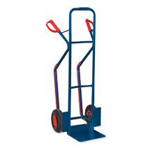 Sackkarre mit Kufen, Tragkraft 250kg, Schaufel 32x25cm,blau