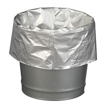 Sacs poubelle pour conteneurs de sécurité, recouverts d'aluminium