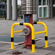 Säulenschutz-Bügel, feuerverzinkt