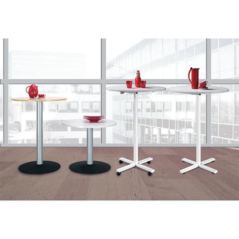 Säulentisch mit Tellerfuß, höhenverstellbar, ØxH 900x680-1120 mm