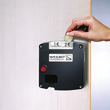 Safe-O-Mat Schloß für Garderobenschrank Belüftungslochfeld, 300 und 400mm