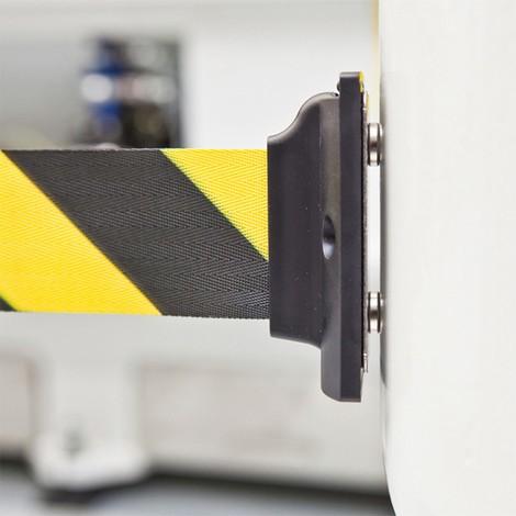 Samonapínací nástěnná uzavírací páska sodstředivou brzdou