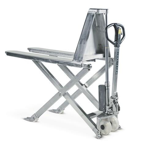 Saxlyftvagn av rostfritt stål BASIC