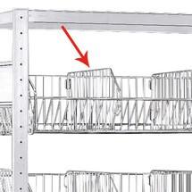 scaffalatura a ripiani divisorio SCHULTE con cestelli a rete grossa