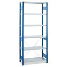 scaffalatura a ripiani SCHULTE, campata base, portata massima per ripiano 250 kg, blu genziana/grigio chiaro