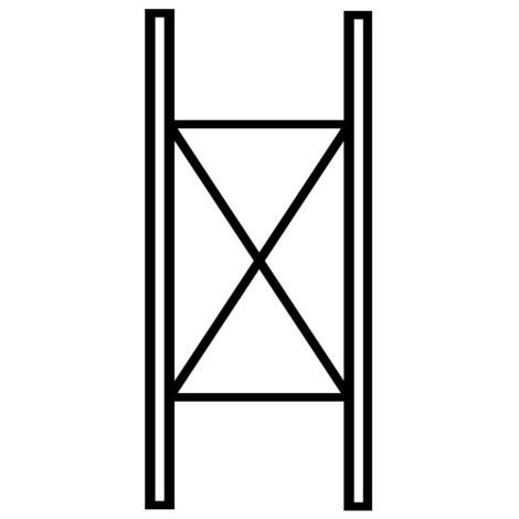 Scaffalatura Cantilever META campata base, a doppio fronte, portata fino a 220 kg