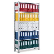 Scaffalatura per documenti SCHULTE campata base, monofronte, con spondine posteriori, portata per piano 85 kg