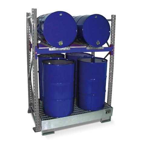 Scaffalatura per fusti, incl. vasca di raccolta, campata base