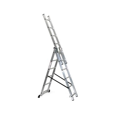 Scala scorrevole in alluminio BASIC 3-in-1