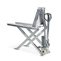 Schaarhefwagen van roestvrij staal BASIC. Capaciteit 1000 kg
