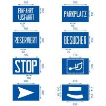 Schablonen-Set für Bodenmarkierungen