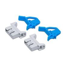 Scharniersluitingen voor eurostapelbak sluitapparaat.4-delig. opt. blauw of rood