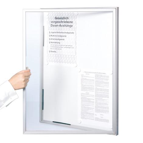 Schaukästen mit einer Aluminiumrahmen-Glastür