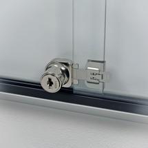 Schaukasten mit Schiebetüren, Tiefe 30 mm
