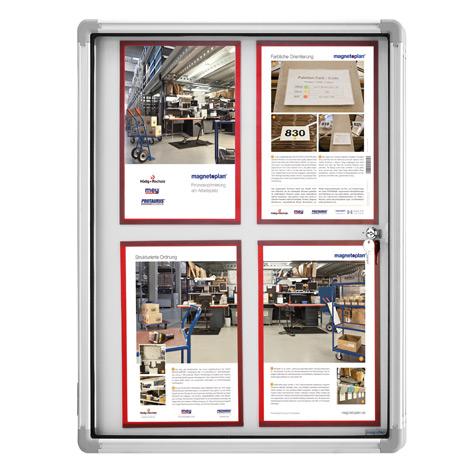 Schaukasten SP, weiß, für den Innenbereich. Für 1 bis 12 x A4