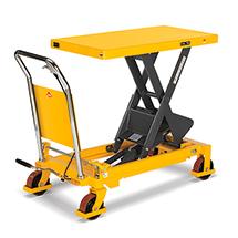 Scheren-Hubtischwagen Ameise ® mit Bügel. Tragkraft bis 750 kg