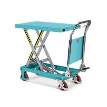 Scheren-Hubtischwagen Ameise ® mit klappbarem Bügel. Tragkraft bis 300 kg