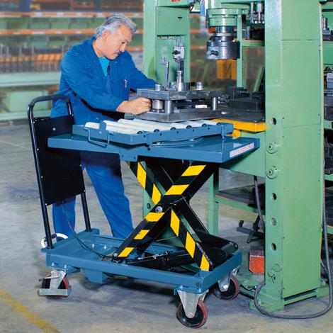 Scheren-Hubtischwagen fetra®. Tragkraft bis 1000 kg