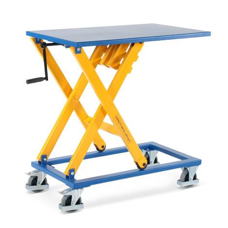 scheren hubtischwagen mit spindel tragkraft 300 kg. Black Bedroom Furniture Sets. Home Design Ideas