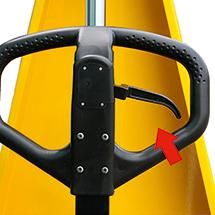 Scheren-Hubwagen Ameise® mit Premium-Deichsel. Tragkraft 1000kg