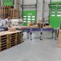 Scheren-Rollenbahn Ameise®. 180kg Tragkraft, 500mm Breite