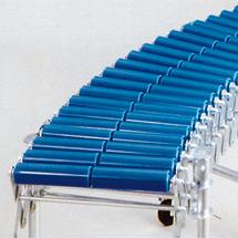 Scheren-Rollenbahnen, Tragrollen aus Kunststoffrohr, Bahnbreite 400mm