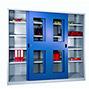 Schiebetürenschrank PAVOY mit Sichtfenstern, 1000 x 1000 x 500 mm (HxBxT)