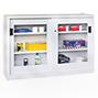 Schiebetürenschrank PAVOY mit Sichtfenstern, 1000 x 2000 x 400 mm (HxBxT)