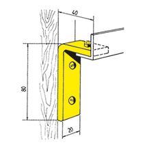 Schienenhalter gewinkelt mit Holzschrauben
