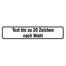 Schild nach Wunsch, alu, BxH 52x11cm, bis zu 20 Zeichen