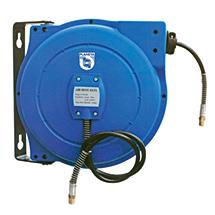Schlauchaufroller für Druckluft und Wasser bis max. 10 bar