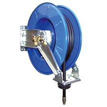 Schlauchaufroller für Luft, Wasser, Öl oder Fett bis 345bar. Länge 15m