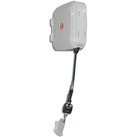 Schlauchaufroller SAMOA-HALLBAUER, geschlossen, mit Elektronik-Handdurchlaufzähler