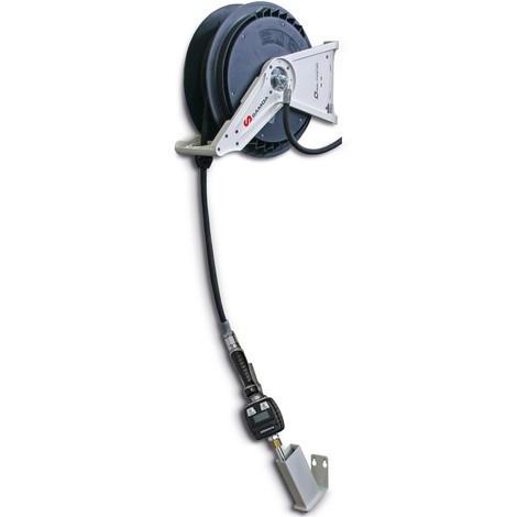 Schlauchaufroller SAMOA-HALLBAUER, offen, mit Elektronik-Handdurchlaufzähler